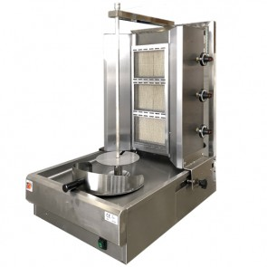 Gyros a gas con 3 bruciatori a infrarossi ø carne massimo 400 mm