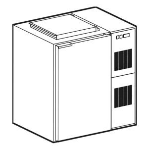 Box refrigerato per rifiuti capacità per contenitore rifiuti, capacità 120 litri - GRAFFIATO