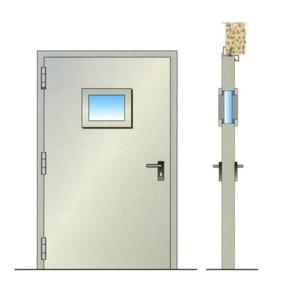 Porta tagliafuoco modello rei60, 1925x850 mm