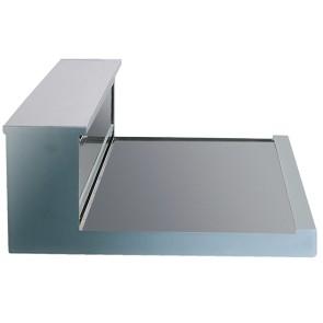 Vetrina refrigerata da appoggio ad incasso banco senza castello vetri con motore sottostante