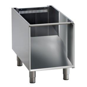 Base aperta per apparecchiature da banco l=450mm