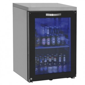 vetrina refrigerata sottobanco sinista 1 porta in vetro battente, 90 bottiglie