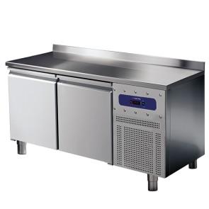 Tavolo refrigerato da 600 mm a 2 porte con alzatina, -2°/+8°C