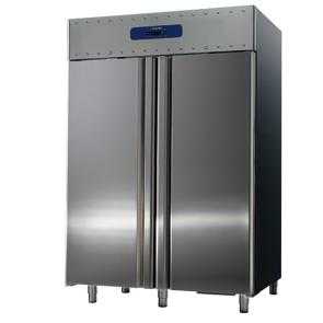 congelatore da 1400 litri in inox, GN 2/1, -10°/-25°C, 85 mm isolamento