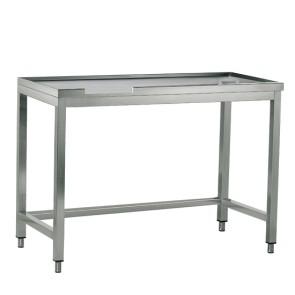 tavolo di cernita destro con foro, per macchine con uscita a sinistra, l=1320 mm