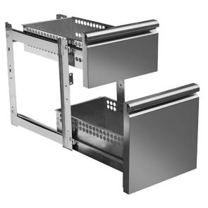 kit cassettiera GN da 1x 1/3 e 1x 2/3 per tavoli refrigerati con profondità 700 mm